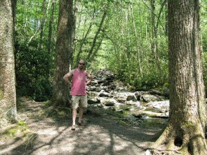 Alum Cave trail, picnic spot