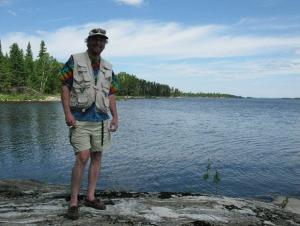 Brian at Packwash Lake, Ontario, Canada