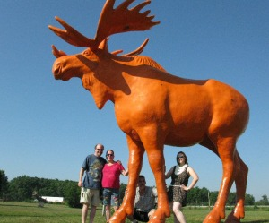 Orange Moose, Black River Falls, Wisconsin