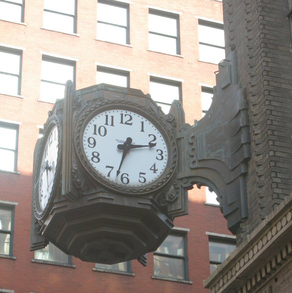 Though it no longer keeps time, this clock makes me happy every time I pass by it.