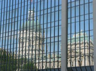 Statehouse reflection
