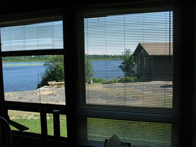 View from Cabin 6, Snake Falls Camp, Packwash Lake, Ontario, Canada