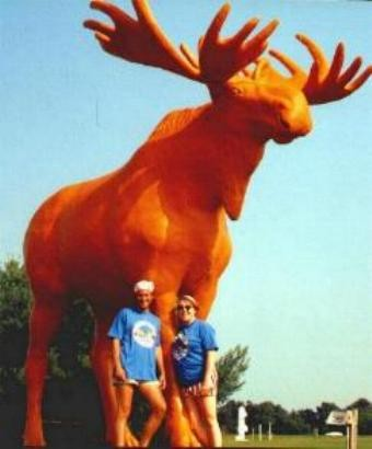 Brian and me, Big Orange Moose.  Black River Falls, Wisconsin