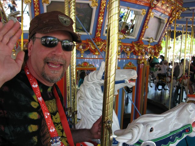 Ok, he put up with the carousel because I wanted to ride it.  But he had fun because we always have fun.