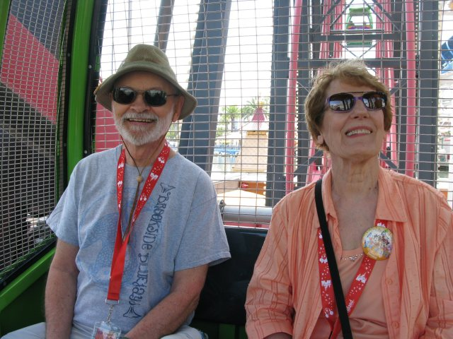 My fantabulous in-laws, Fran and Tom, on the Ferris wheel.
