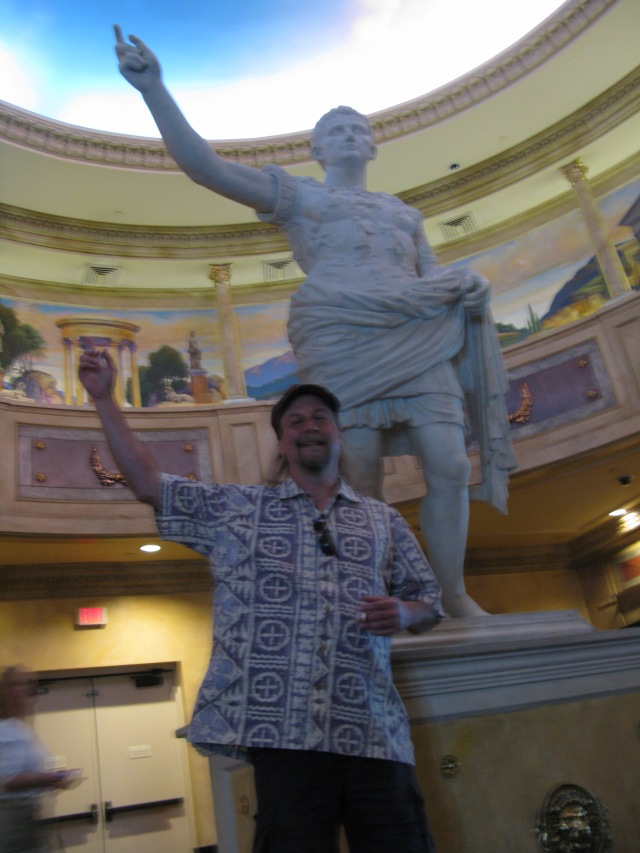 Brian loved Las Vegas.  The Caesar's palace poker room loved him, and we left Vegas with quite a bit more money than we came in with.