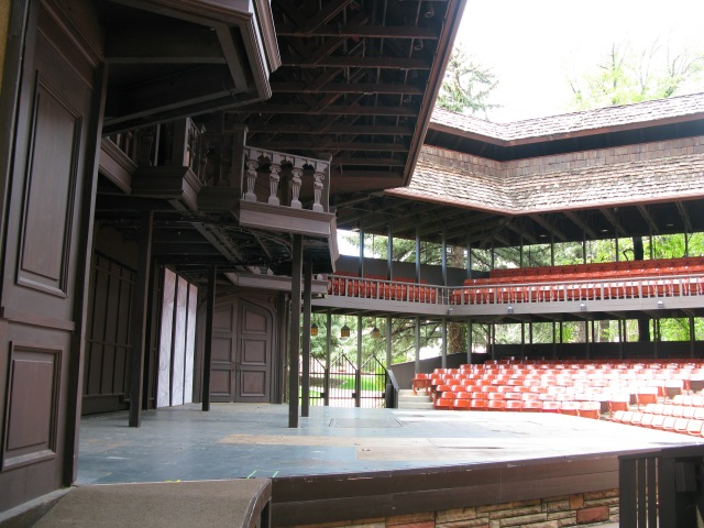 I got to show Brian where I lived when I worked for the Utah Shakespeare Festival in Cedar City Utah, and show him the stage where the shows took place.