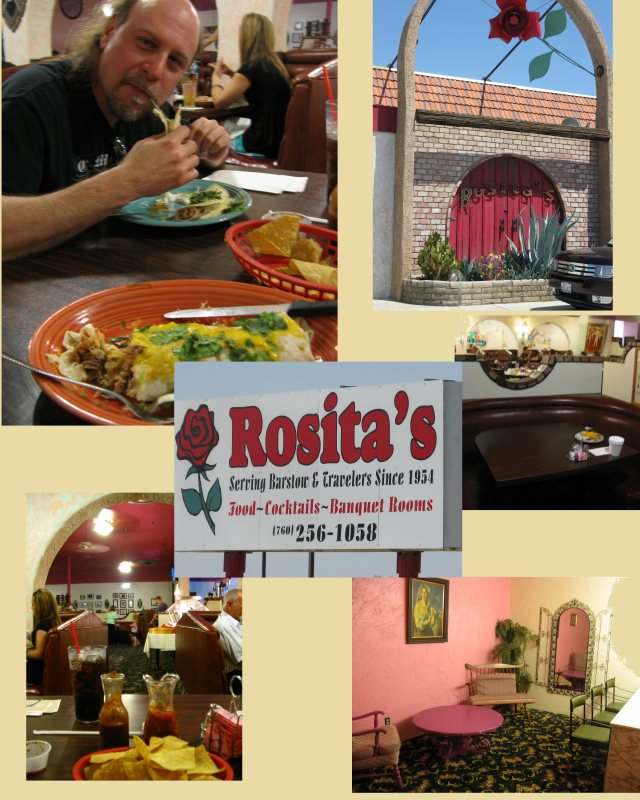 The food was great, the place was awesome.  This restaurant was here during Route-66's heyday, and it shows.  Giant half circle booths everywhere, arches, and a sitting room in the ladies bathroom.  Well worth a visit.