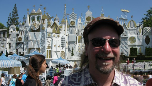 "That's in front of ""Small World.""  You have to go on Small World.  It just isn't a Disney adventure if you don't."