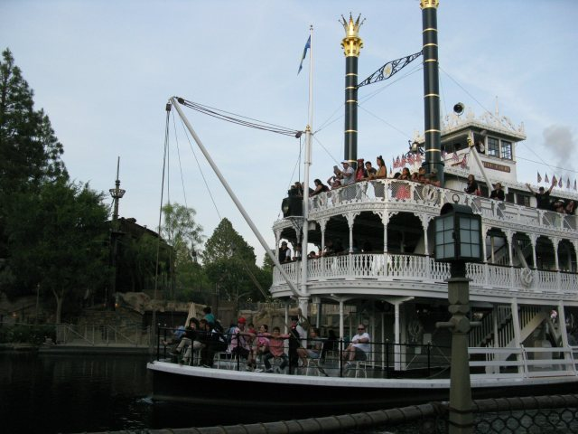 The Mark Twain.  They use this boat and the Columbia in the awesome light show.