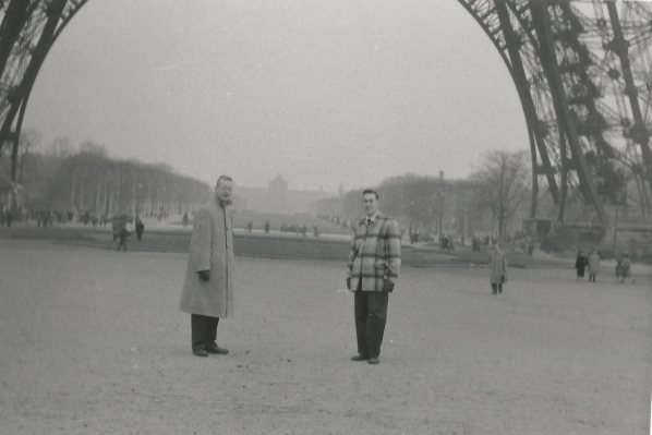 Army buddy, Don, and my dad, Gene, under the Eiffel Tower.