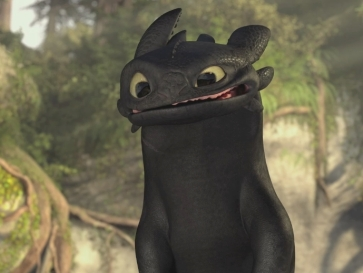 "That's me before dentures.  Not my pic, obviously, that's Toothless from ""How to Train Your Dragon."""